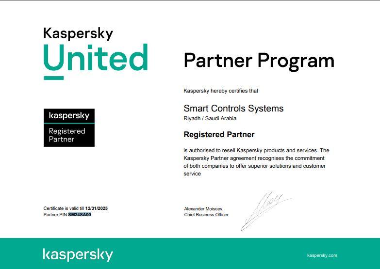 SCS is Kaspersky Partner