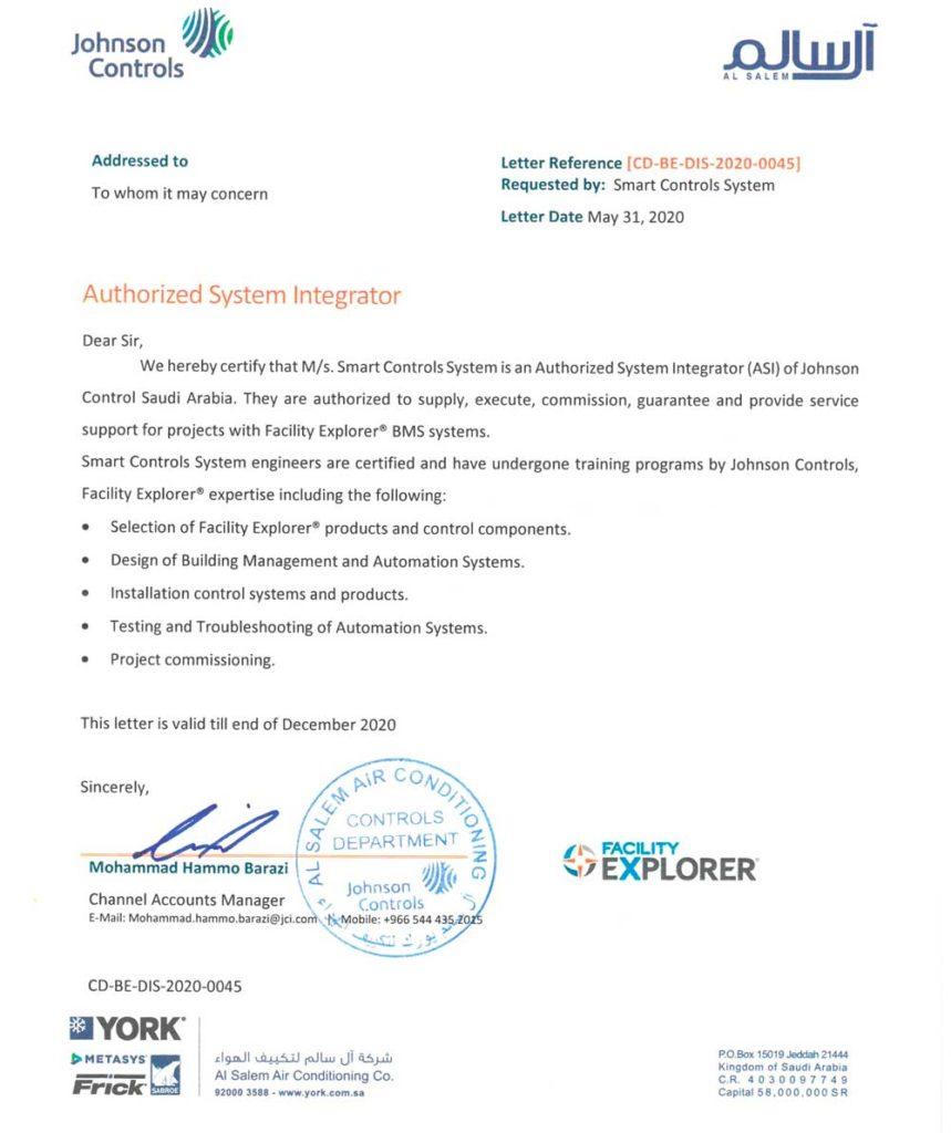 JCI Johnson Control Partner in Saudi Arabia